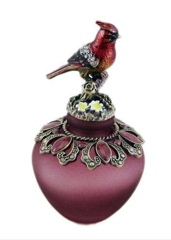 Collectible Red Cardinal Bird Perfume Bottle