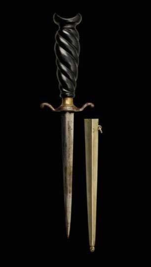 DAGGER Nineteenth Century. Sturdy blade a rhomboid