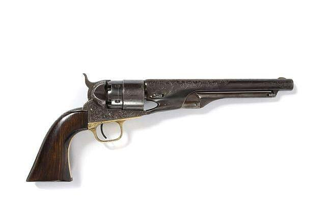 Engraved COLT MODEL 1860 ARMY