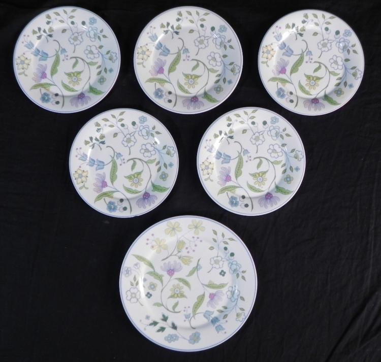 6 Pc Spode England Bone China Afton Y8212 Small Plates