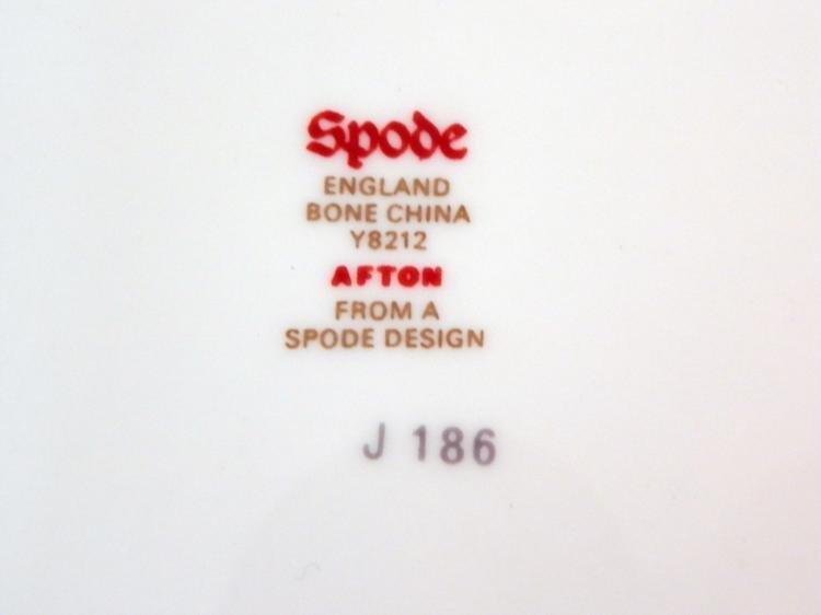 6 Pc Spode England Bone China Afton Y8212 Small Plates - 3
