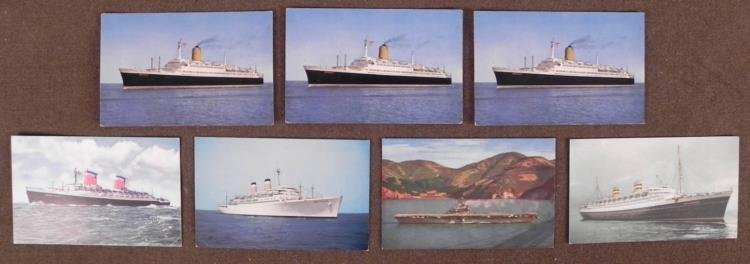 SIX VINTAGE CRUISE SHIP POSTCARDS- INCL T.S. BREMEN