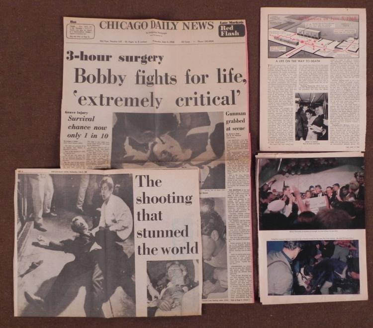 1968 BOBBY KENNEDY DEATH NEWSPAPER & MAGAZINE STORY