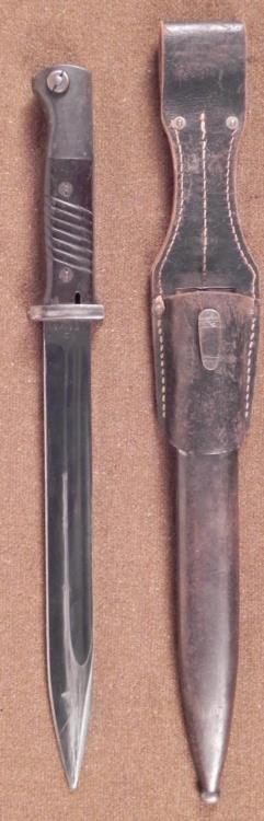 1940 NAZI HORSTER K98 BAYONET W/FROG-WITH MATCHING