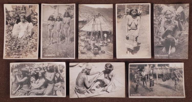 EARLY 1900 PHOTO POSTCARDS OF PHILLIPINE ISLAND NAKED W
