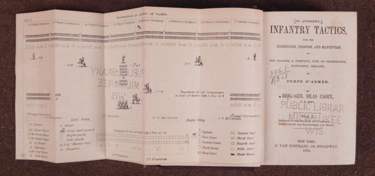 "RARE CIVIL WAR ""INFANTRY TACTICS""-278 PGS-HB-NAMED TO L"