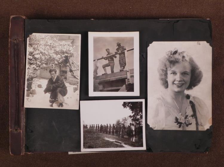 WWII MILITARY PHOTO ALBUM-100+ PHOTOS-US-JAPANESE-BRIT