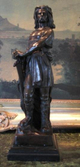 Stunning Bronze Sculpture Vercingetorix French Warrior
