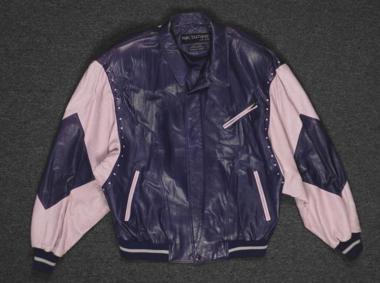Marc Buchanan Pelle Pelle Soda Club Blue Leather Jacket