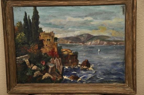Oil on canvas by Venus C. Patterson Italian landscape