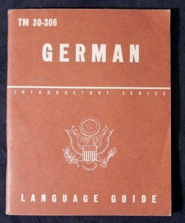 WWII GI'S GERMAN LANGUAGE BOOK-TO COMMUNICATE W/POW'S