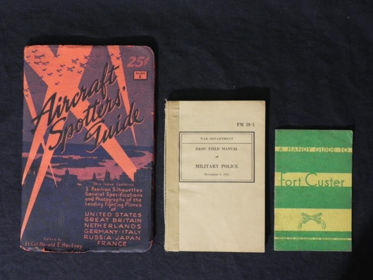 WWII ERA AIRCRAFT SPOTTERS GUIDE, MILITARY POLICE FM