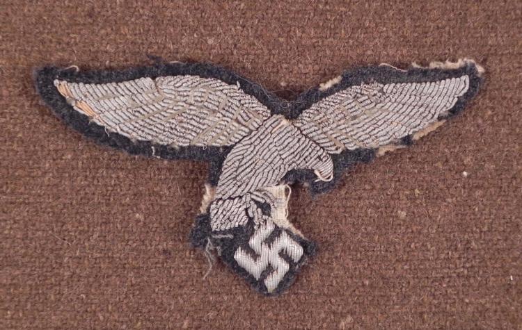 NAZI OFFICER'S BULLION BREAST EAGLE-ORIGINAL