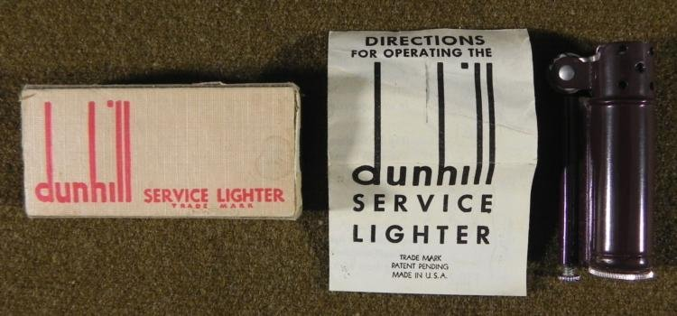 WWII Military Dunhill Trench Service Lighter -Box, MINT