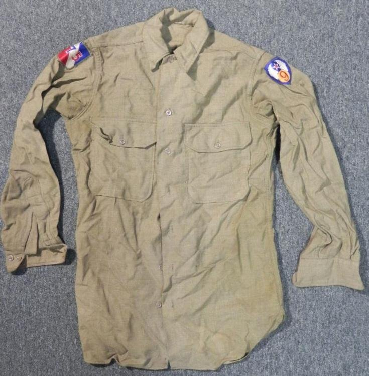 WWII 9TH AF-75TH DIV US MILITARY SHIRT