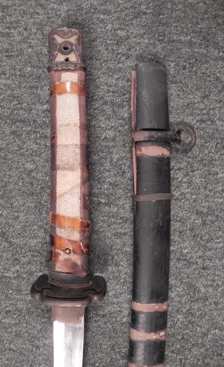 WWII JAPANESE SAMURAI SWORD GENDAITO KATANA-SIGNED KAZU