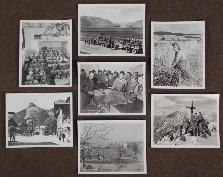 6 PHOTOS OF GI'S FINALLY IN GERMANY-1 IN SS SINING HALL