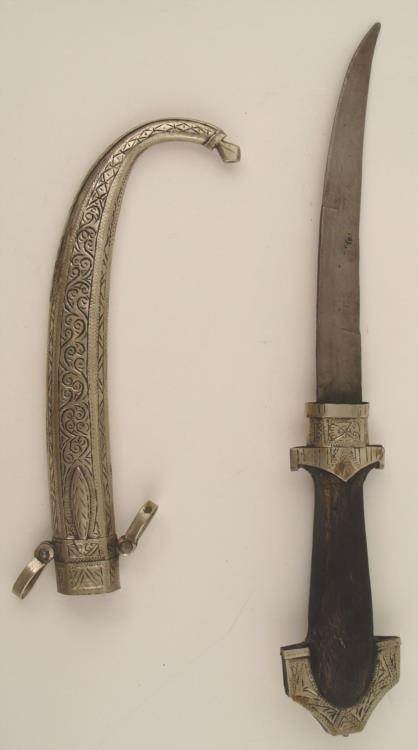 Vintage Arabian/Moroccan Silver Koummya Dagger