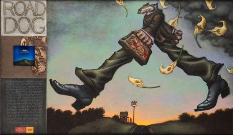 Markus Pierson 'ROAD DOG' Mixed Media Canvas & 'PETE'