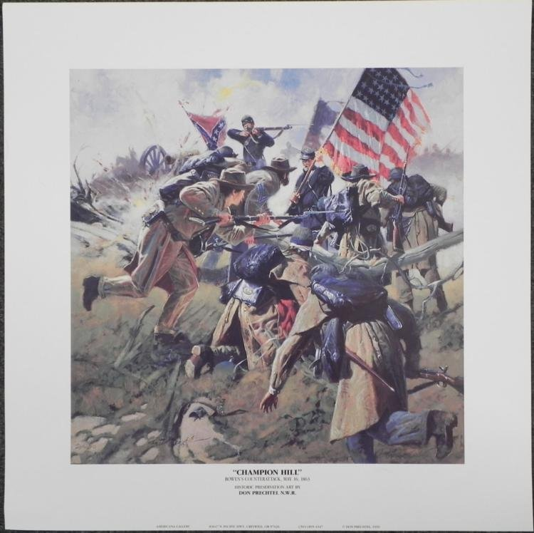 Champion Hill Don Prechtel Counterattack Art Print