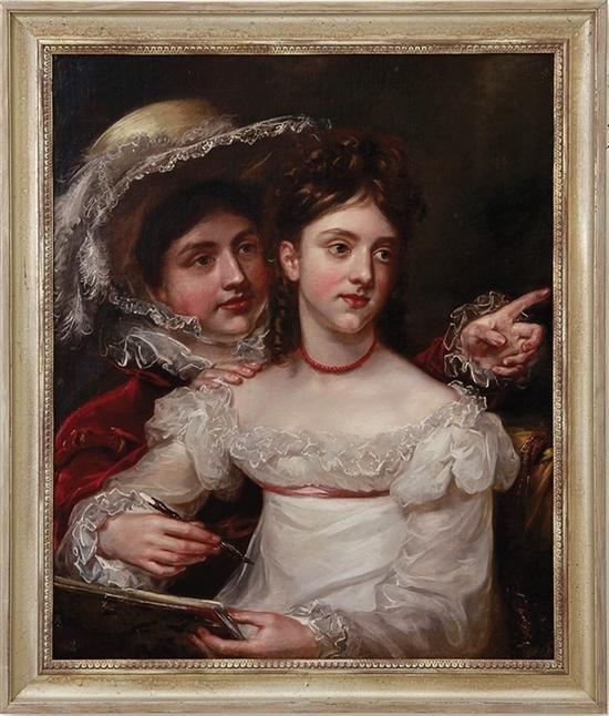 PORTRAIT OF 2 WOMEN Framed OOC