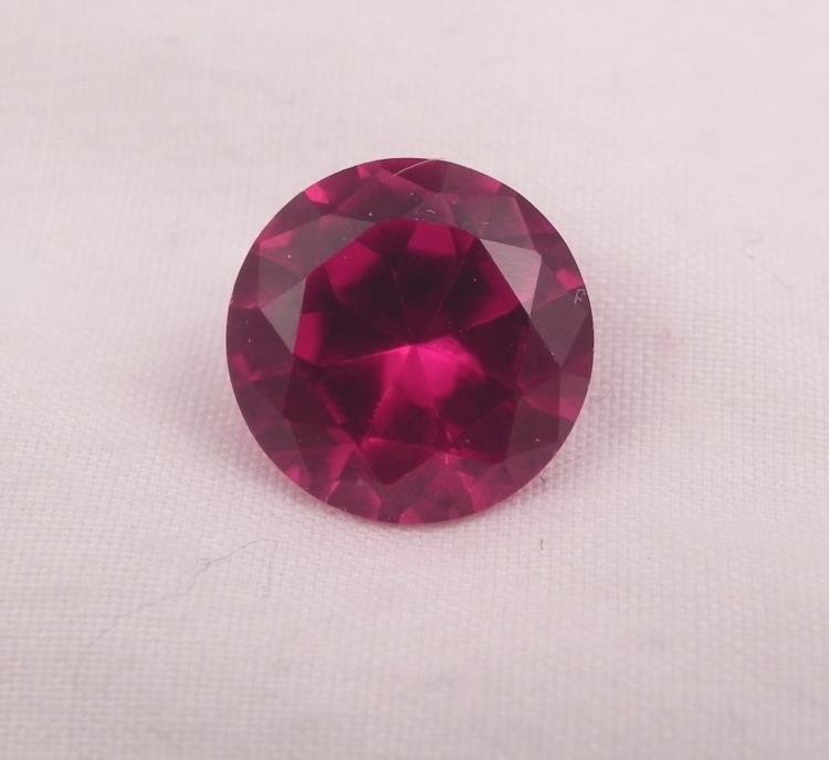 BRILLIANT SPARKLING RED 7.50 CT LAB CREATED RUBY