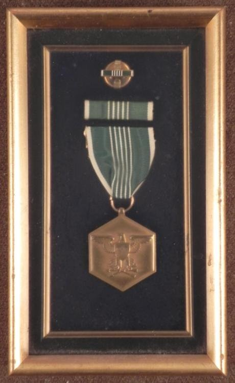 WWII 1945 ORIG U.S. ARMY COMMENDATION MEDAL, BAR, PIN