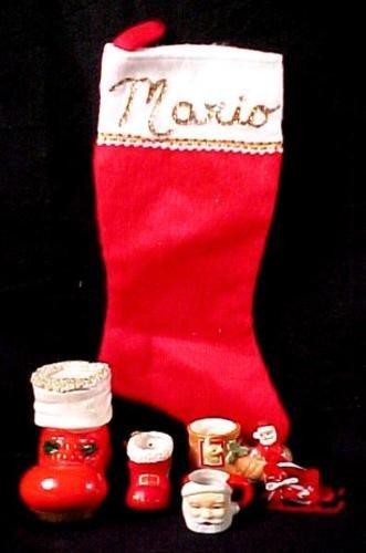 Christmas Boot Bank, Ornament Lot, Sled, Santa Mug