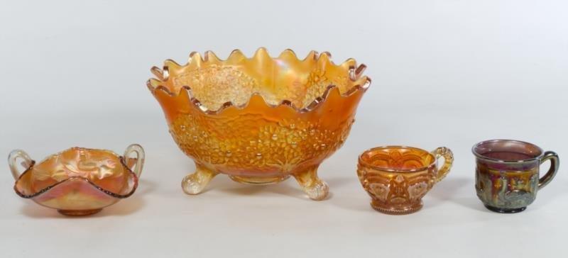 Carnival Glass Pieces (4pcs.), Carnival Glass Piec