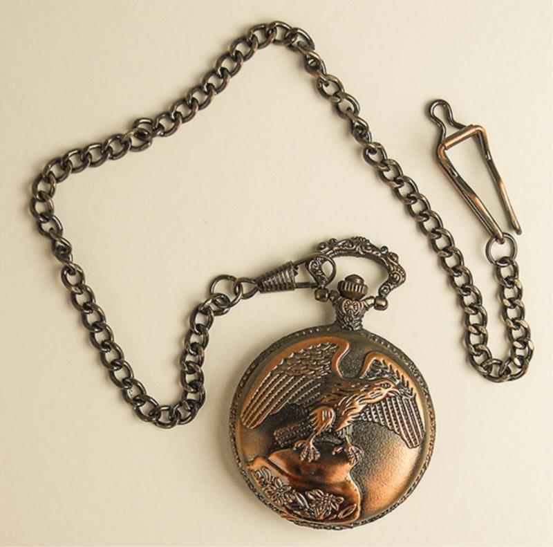 Men's Pocket Watch W/eagle