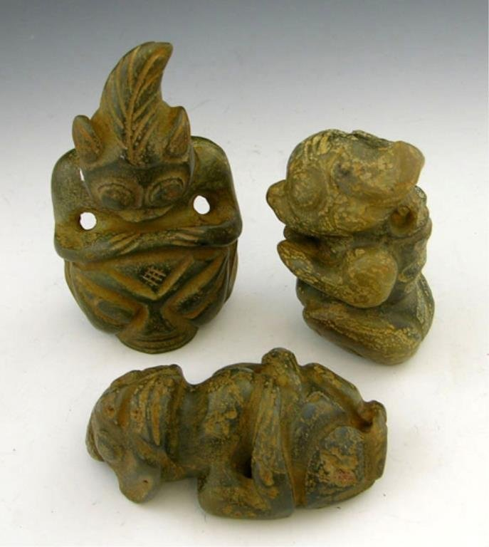 COLLECTION OF JADE EFEGEES Group of Three