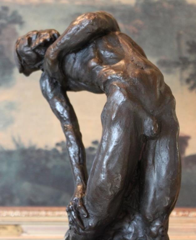 Sensual Male Nude Bronze Sculpture