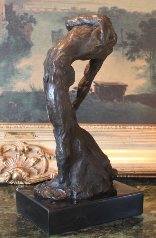 Sensual Male Nude Bronze Sculpture - 2