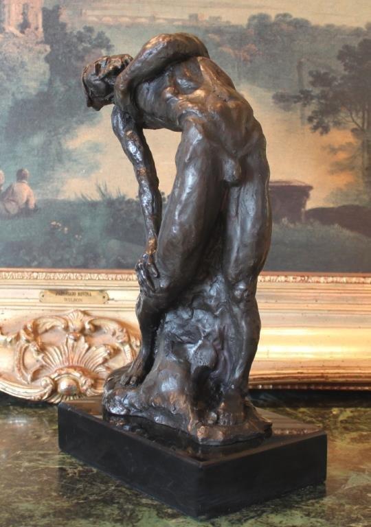 Sensual Male Nude Bronze Sculpture - 6