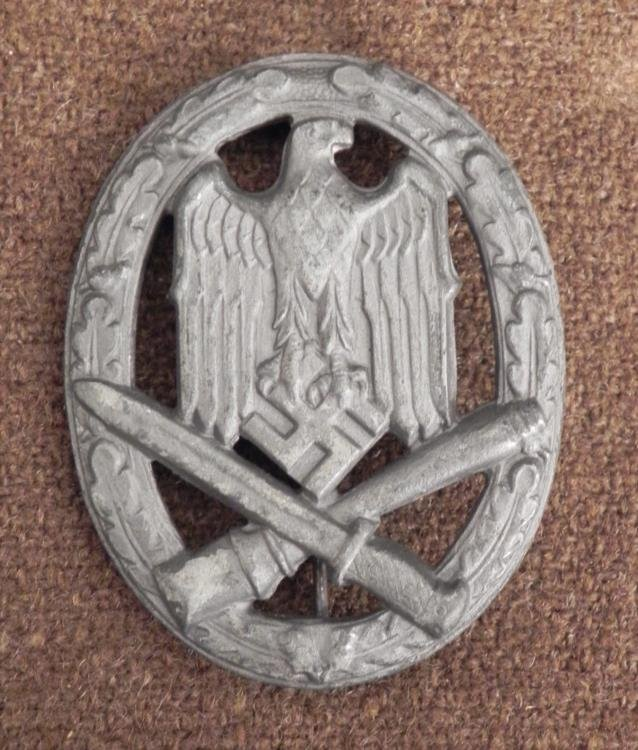 NAZI GENERAL ASSAULT BADGE FOR THE WEHRMACHT-GRADE