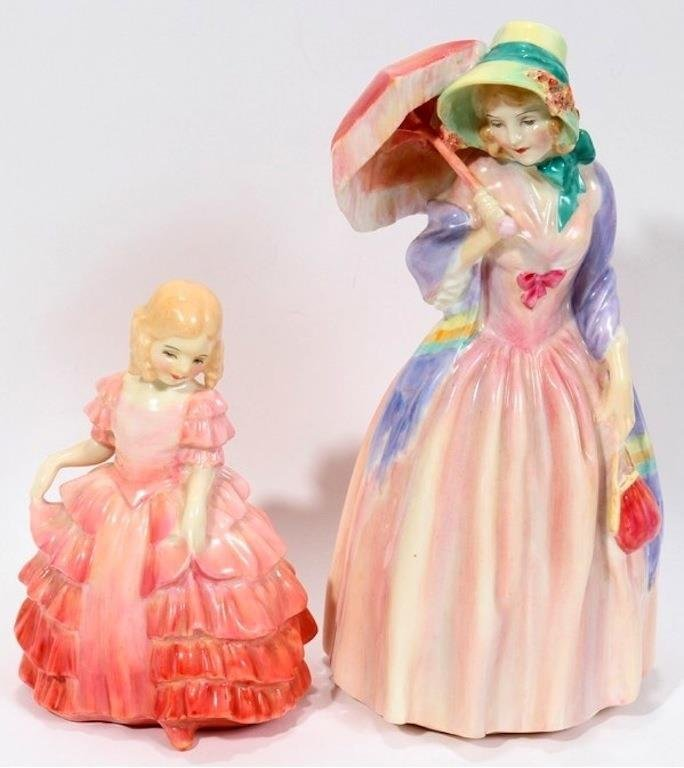ROYAL DOULTON MISS DEMURE, ROSE TWO PIECES