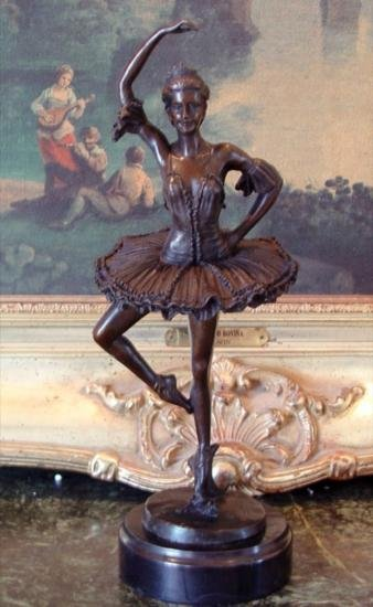 Stunning Bronze Sculpture Ballerina Dancer