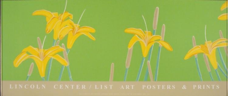 Alex Katz : Day Lilies Lincoln Center Art Poster Ltd Ed