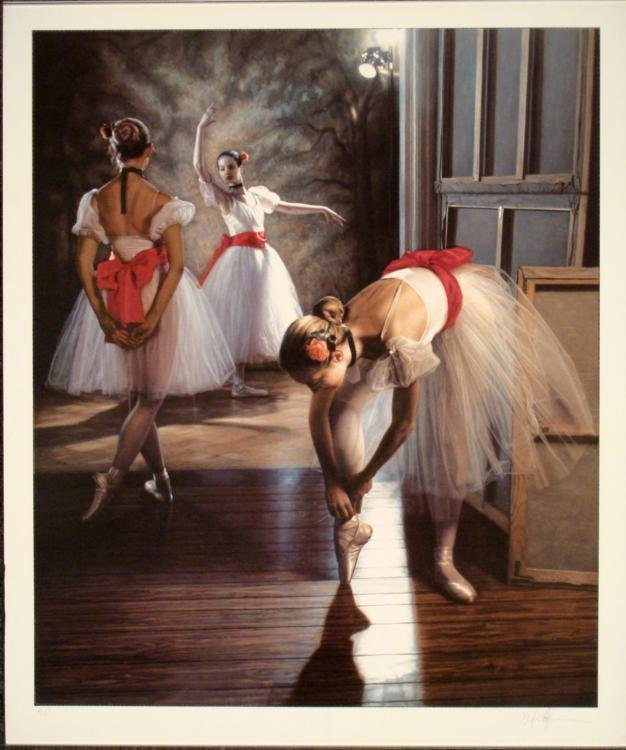 Signed Art Print Doug Hoffman Ballerinas