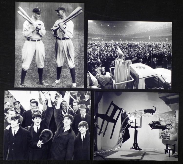 4 Photos - Beatles, Pope Paul, Joe Jackson, Cobb, Dali
