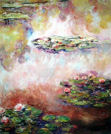 Nympheas Numbered Giclee By Monet 17x22 1/2 Canvas