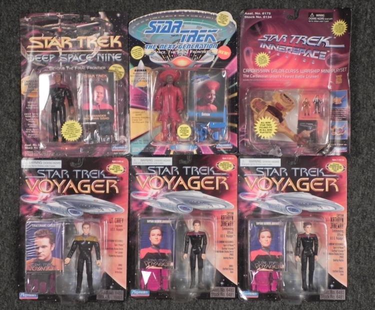 6 Star Trek Action Figures Deep Space, Inner, Next MOC