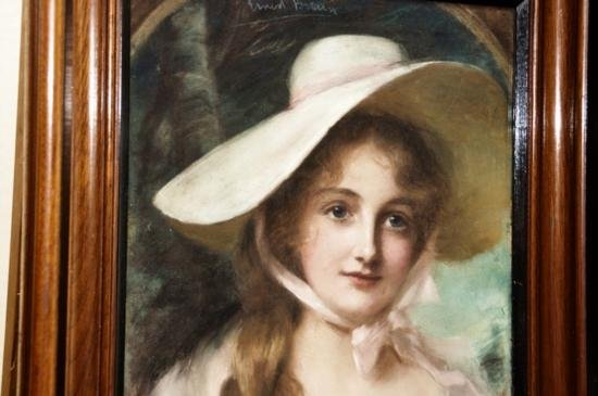 Pastel by John Ernest Breun British 19 cent. Listed