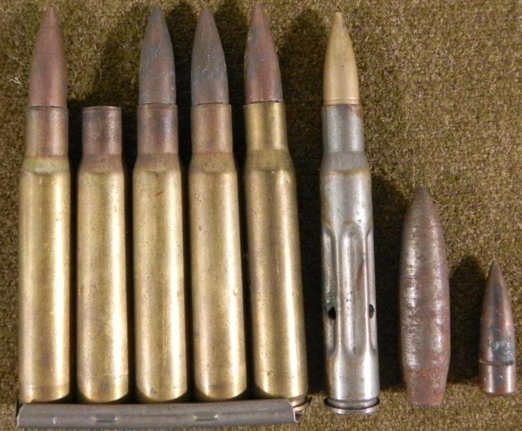 US WWII BULLETS- MADE INTO PENCIL AND TRENCH ART