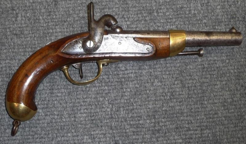 Early 19th c French Percussion Cap Service Pistol
