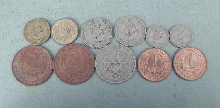 11 Carribean Territory Coins 1955-65 Some UNC