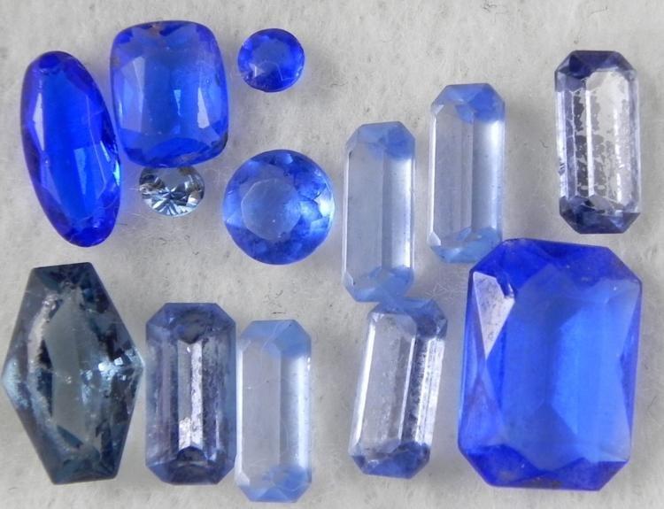 13 Sapphire Gemstones Gems 13 mm Oval, Emerald Cut