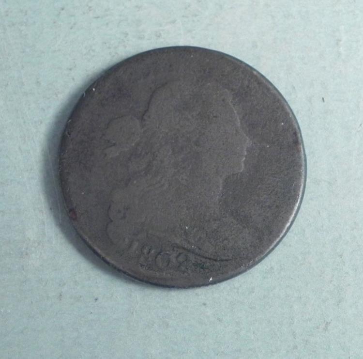 1802 Large Cent Draped Bust, Stems