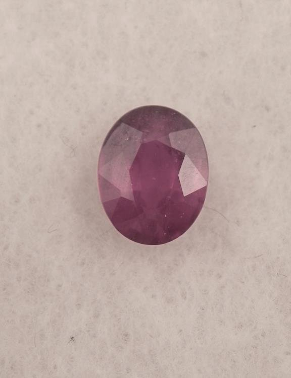 OUTSTANDING RARE 2.60 CT BLOOD RED RUBY CENTER STONE