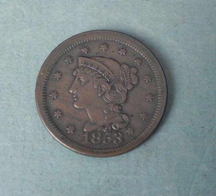 1953 Large One Cent Coronet Head -High Grade
